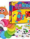 10pcs enfants diy animaux de bande dessinee creatifs jouets autocollant main kindergarden colores assiettes en papier jouets educatifs