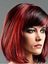 svart blandad röd syntetisk peruker klassiska damer raka silkeslen värmebeständighet peruker partihandel