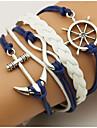Bărbați Dame Bratari Wrap loom brățară Strat dublu Bohemia Stil Ajustabile Aliaj Geometric Shape Ancoră Bijuterii Pentru Zilnic Casual1