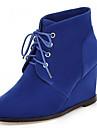 Homme-Bureau & Travail Habille Decontracte-Noir Bleu Marron-Talon Compense-Bottes a la Mode-Bottes-Laine synthetique