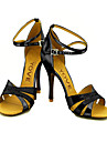 Chaussures de danse(Marron Rouge Argent Or) -PersonnalisablesPaillette Brillante-Latine Salon