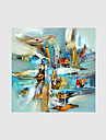 Peint a la main Abstrait Peintures a l\'huile,Modern Un Panneau Toile Peinture a l\'huile Hang-peint For Decoration d\'interieur