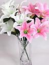 10 Une succursale Plastique Autres Lis Fleur de Table Fleurs artificielles 43*15