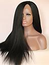10-28 pouces couleur naturelle noir lumiere yaki droite brazilian vierge de dentelle de cheveux devant perruque avec des cheveux de bebe
