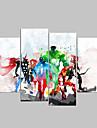 Impression sur Toile Bande dessinee Cinq Panneaux Format Horizontal Decoration murale For Decoration d\'interieur