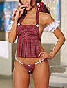 Feminin Ultra Sexy / Uniforme & Cheongsams / Costume Pijamale,Subțire Polyester-Sexy Roșu