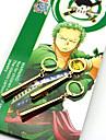 Bijoux Inspire par One Piece Roronoa Zoro Anime Accessoires de Cosplay Boucles d\'oreille Dore ABS / Alliage Masculin / Feminin
