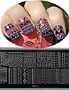 Nail Art plaques d\'emboutissage haute qualite de conception de fond de panier image coloree Outil a ongles Cool01-05
