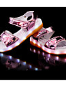 Fille-Decontracte-Noir Argent Rose Dore-Talon Plat-Light Up Chaussures-Sandales-Polyurethane
