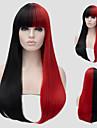 赤と黒の長いストレートの髪や部分かつらと風のナイトクラブ公演ストリート色百万円となりました。