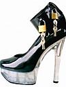 Homme-Mariage Decontracte Soiree & Evenement-Noir Argent-Talon Aiguille Plateforme-A Plateau club de Chaussures Light Up Chaussures-