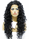 evawigs 18-24 tum vackra värmebeständiga syntet spets front lockiga hår peruker för svarta kvinnor
