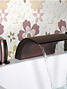 Oil Rubbed Bronze Waterfall Bathroom Sink Faucet