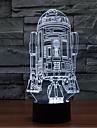 örlogsfartyg beröring dimmer 3D LED nattlampa 7colorful dekoration atmosfär lampa nyhet belysning jul ljus