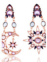 La modă Vintage stil minimalist European Piatră Preţioasă Cristal Ștras Placat Auriu Aliaj Star Shape Geometric Shape Curcubeu Bijuterii