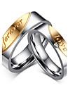 Bărbați Dame Pentru cupluri Inele Cuplu Inimă Franjuri La modă Vintage Zirconiu Oțel titan Bijuterii Pentru Nuntă Petrecere Zilnic Casual