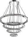 1.5 Hängande lampor ,  Modern / Traditionell/Klassisk / Rustik/Stuga / Tiffany / Rustik Elektropläterad Särdrag for Kristall / Flush