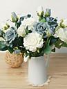 1 1 Une succursale Polyester / Plastique Roses Fleur de Table Fleurs artificielles 22.8inch/58cm