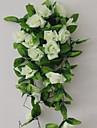 1 1 Une succursale Polyester / Plastique Roses Guirlande et Fleur Murale Fleurs artificielles 94.4inch/240cm