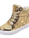 Svart Silverfärgad Guldfärgad-Kilklack-DamKonstläder-Utomhus Fritid-Sneakers