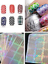 1PCS Nail Sticker Art Diecut Manucure Pochoir Maquillage cosmetique Nail Art Design