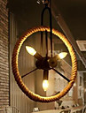 40W Hängande lampor ,  Vintage Målning Särdrag for Flush Mount Lights MetallLiving Room / Bedroom / Dining Room / Vardagsrum / Sovrum /