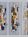 HANDMÅLAD Abstrakt olje,Moderna Tre paneler Kanvas Hang målad oljemålning For Hem-dekoration