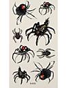 1 Tatouages Autocollants Series animales spider flash Tattoo Tatouages temporaires
