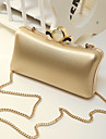 Women Clutch PU Event/Party Gold Black Silver Blushing Pink