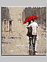 olje~~POS=TRUNC Människor Europeisk Stil / Stil / Moderna / Klassisk / Traditionellt / Realism / Medelhavet / Parfymerad,En panel Kanvas