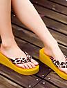 Damă Papuci & Flip-flops Confortabili Cauciuc Primăvară Vară Casual Confortabili Toc Plat Negru Maro Plat