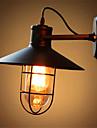 American Bar järn vägg loft retro industriell sovrum sängutomhuslampa spegelglas lampa