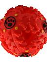 Kattleksak Hundleksak Husdjursleksaker Boll gnissla Matautomat Röd Svart Blå Gummi