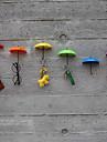 nouveaux 3pcs crochet cle porte organiseur en epingle a cheveux marque decorative nouveaux crochets parapluie muraux (couleur de cheveux