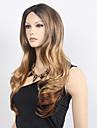 les femmes synthetiques partie libre a ondes longues perruque cosplay midsplit perruques deux tons perruque synthetique noir blond