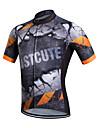 Fastcute® Cykeltröja Herr Kort ärm Cykel Andningsfunktion Snabb tork Svettavvisande Tröja Coolmax Klassisk Vår Sommar Höst Cykling/Cykel