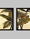 Blommig/Botanisk Inramad duk / Inramat set Wall Art,PVC Svart Ingen passepartout med Frame Wall Art