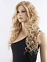 qualite superieure perruque frisee long vente chaude de perruque synthetique milieu blonde.