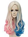 Perruques sans bonnet Perruques pour femmes Blond platine Perruques de Costume Perruques de Cosplay