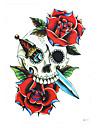 1 Tatouages Autocollants Series de fleur Non Toxic / Motif / Bas du Dos / WaterproofHomme / Femme / Adulte flash TattooTatouages