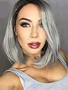 2016 nouveaux cheveux ombre noire gris a gris dentelle synthetique perruques perruque avant bob