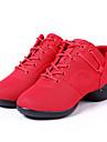 Chaussures de danse(Noir / Rouge) -Non Personnalisables-Talon Plat-Synthetique-Baskets de Danse