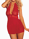 Women Chemises & Gowns / Lace Lingerie Nightwear Solid Lace / Core Spun Yarn Red Women\'s