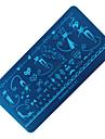 chat bricolage clou film bleu nnail plaque rectangulaire polish