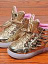 Unisexe-Decontracte-Rose / Argent / Or-Talon Plat-Confort / Bout Arrondi-Sneakers-Cuir