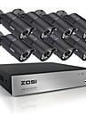 Zosi 8ch hdmi 720p DVR 8 st 1.0mp ir hem övervakning övervakningskameror CCTV-system