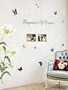 Floral Stickers muraux Stickers avion Stickers muraux decoratifs,PVC Materiel Lavable / Amovible Decoration d\'interieur Wall Decal