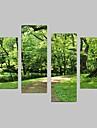 Landskap Canvastryck Fyra paneler Redo att hänga,Vertikal
