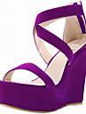 Homme-Exterieure-Noir / Bleu / Jaune / Vert / Violet / Rouge / Blanc / Orange / Fuchsia / Amande-Talon Compense-Sandales-Sandales-