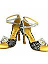 Latin / Salsa-Pantofi de dans(Argintiu / Auriu) -Personalizabili-Damă